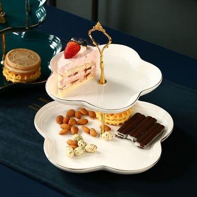 西点蛋糕点心托盘架子甜品台布置桌布果盘架前台风格水果架.欧式
