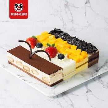 熊猫不走  四大天王 2磅 黑森林芒果榴莲巧克力 慕斯生日蛋糕 广州