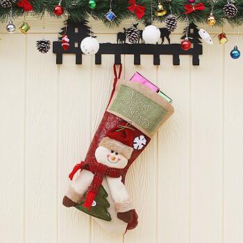 大号圣诞袜儿童礼品袋 圣诞装饰品 大号圣诞树挂件礼物袋 许愿袋 糖果