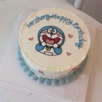 乐惜网红哆啦a梦生日蛋糕同城蓝胖子机器猫叮当猫蛋糕儿童上海