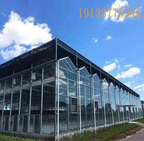 温室大棚热镀锌科研骨架观光蔬菜玻璃温室连栋纹洛智能温室大棚