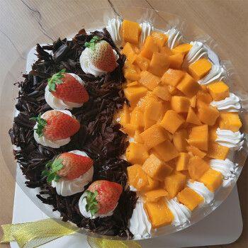 芙瑞多 水果生日蛋糕12寸同城配送儿童祝寿聚会预定新鲜奶油蛋糕下午