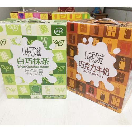 伊利味可滋香蕉牛奶/白巧抹茶/巧克力/芝士莓果240ml*