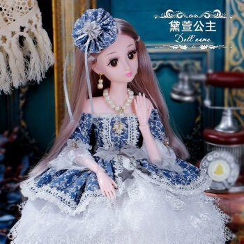 60厘米芭比智能洋娃娃玩具女孩公主仿真精致裙单个礼盒套装 60厘米