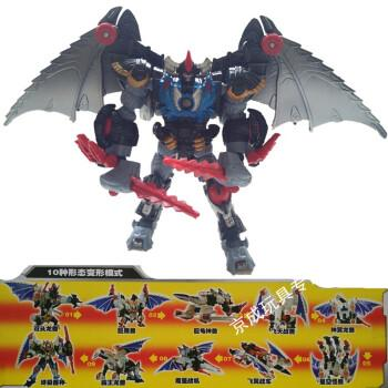 猛兽侠超能勇士变形玩具金刚犀牛黄蜂霸王龙黑猩猩白虎黄豹恐龙 十变