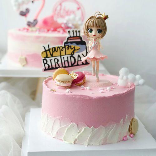 百变小樱蛋糕装饰摆件女孩美少女生日蛋糕摆件儿童烘焙甜品台装扮