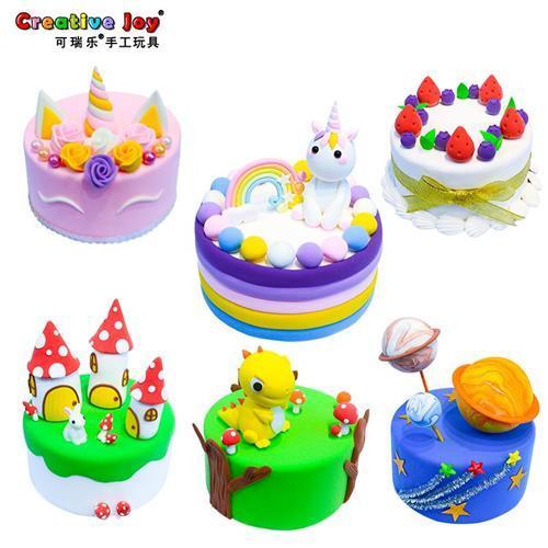 蛋糕材料包彩泥超m轻粘土儿童手工制作diy工具幼儿园