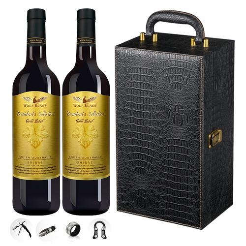 纷赋红酒 澳洲干红葡萄酒 总统精选金标shiraz设拉子西拉 双支红酒750