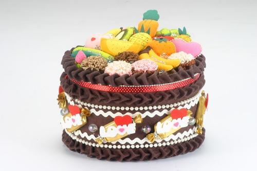 高雄好物 _ 巧克力水果圆形大礼盒蛋糕