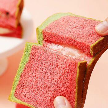 西瓜吐司夹心整箱早餐面包蛋糕点速食休闲网红零食品代餐饱腹 热卖款