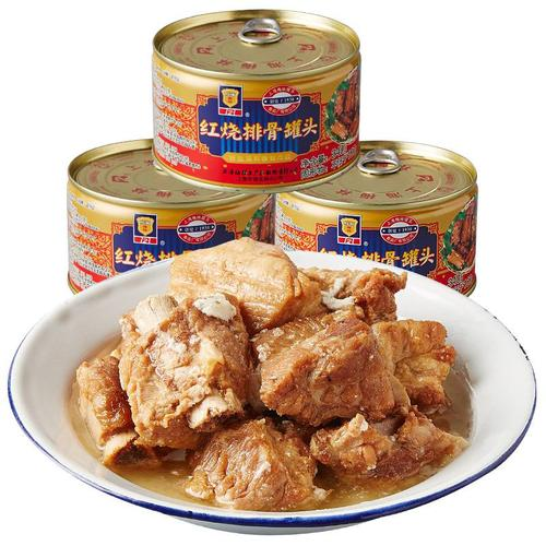 梅林红烧排骨罐头340g*3罐装熟食猪肉下饭家常菜方便