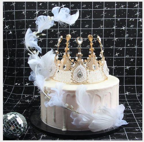 ins风创意羽毛串条法式蛋糕装饰生日蛋糕婚庆翅膀甜品