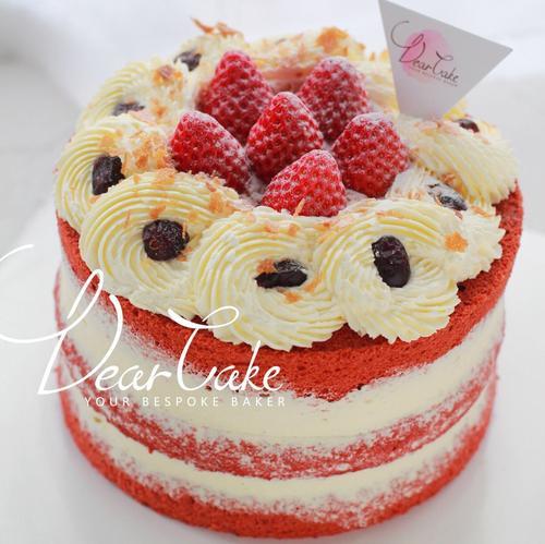 【0025】《红丝绒裸》7815红丝绒法式奶酪裸蛋糕