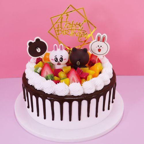 网红蛋糕模型仿真2021新款卡通水果流行生日蛋糕模型