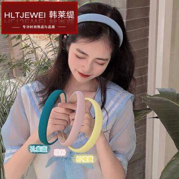 韩莱缇(hlt)韩国ins新款头箍防滑简约 网红小清新发箍