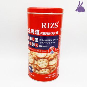 维多芝日式小圆饼干罐装海盐味网红小吃办公室零食薄脆208g/300g 300g