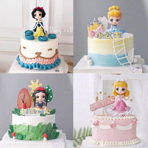 生日蛋糕摆件冰雪公主少女主题童话故事动漫人物生日