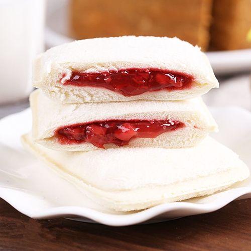 菠萝口袋面包早餐草莓夹心面包手撕蓝莓三明治芒果吐司