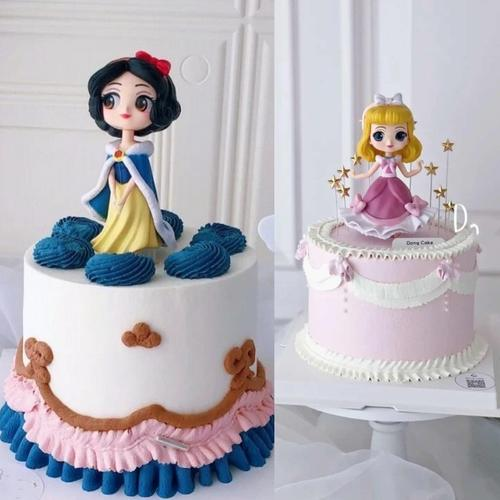 可爱小公主生日蛋糕装饰摆件卡通公仔娃娃儿童生日