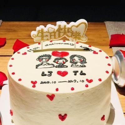 生日快乐蛋糕蜡烛同学朋友爸爸妈妈生日布置装饰蛋糕创意中文蜡.