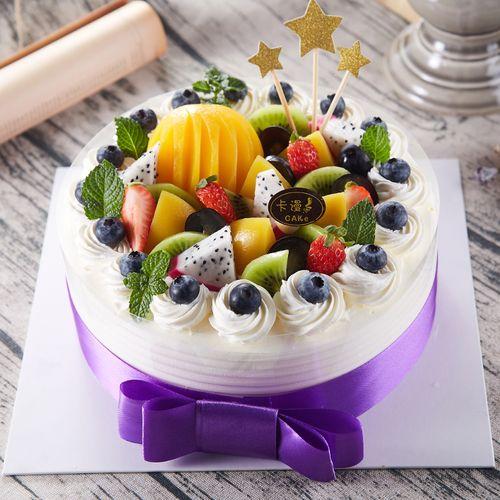 上海拼盘蓝莓水果多多生日蛋糕实体店配送上门好吃蛋糕新鲜又实惠