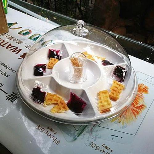 零食盒蛋糕点心水果店试吃盘欧式糖果超市面包透明西点客厅品尝