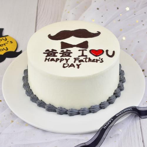 【小胡子装饰款】-千层蛋糕