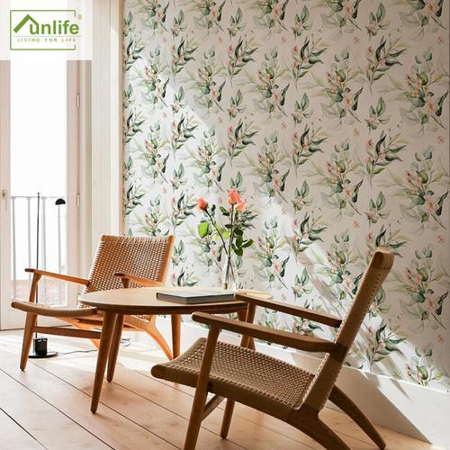 funlife 绿苑春浓壁纸自粘卧室墙面装饰墙纸贴纸防水