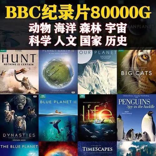 bbc纪录片素材合集 美剧蓝光中英文字幕 硬盘拷贝