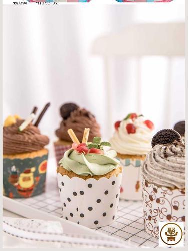 纸杯蛋糕纸杯小号耐高温马芬杯子蛋糕纸杯烘焙模具家用烤蛋糕纸托