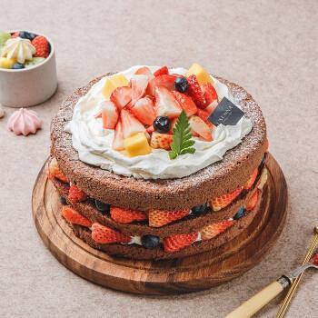 【罗森尼娜】草莓巧克力-新鲜水果 动物奶油 草莓巧克力 戚风蛋糕8