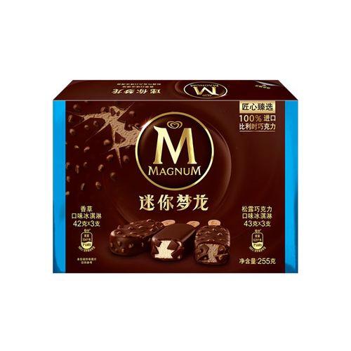 和路雪255g6支装迷你梦龙香草+松露巧克力口味冰淇淋
