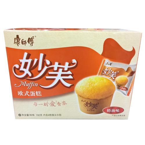 康师傅妙芙奶油口味欧式蛋糕192g