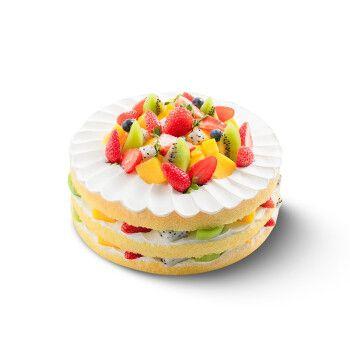 幸福西饼生日蛋糕芒果草莓奶油裸蛋糕预定同城免费配送成都重庆