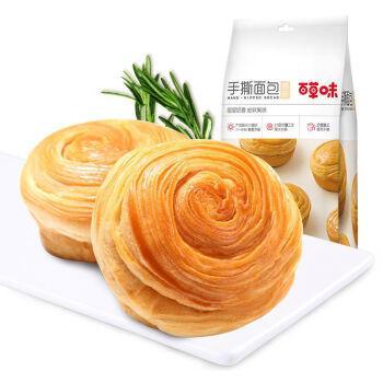 百草味-手撕面包1kg 面包早餐营养食品零食整箱批发168g*1袋 手撕面包