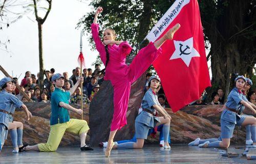 红色娘子军伴舞服装吴清华服装琼花参军表演服红军芭蕾舞送红军服