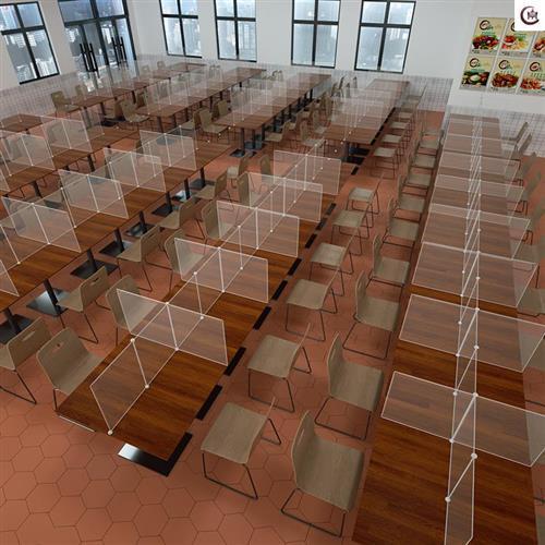 亚克力餐桌隔离板防疫隔离板w餐桌隔离板分隔板学生隔离板防飞沫