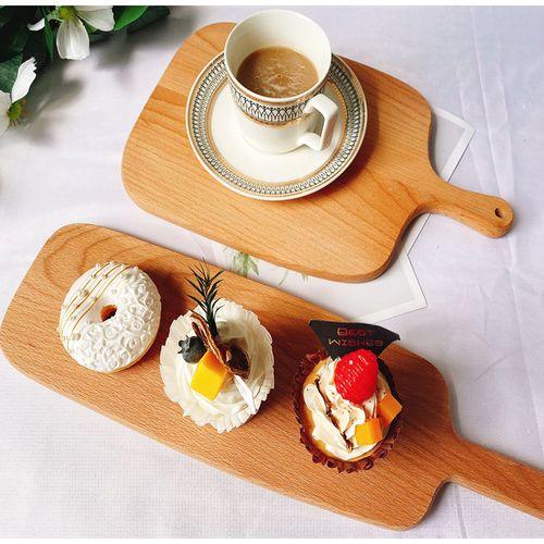 榉木面包板早餐盘下午茶点心盘美食摄影板甜品台