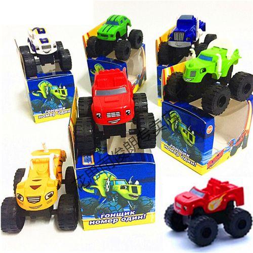 飙速战车6款旋风队卡通动画汽车火焰车机器人怪兽生日