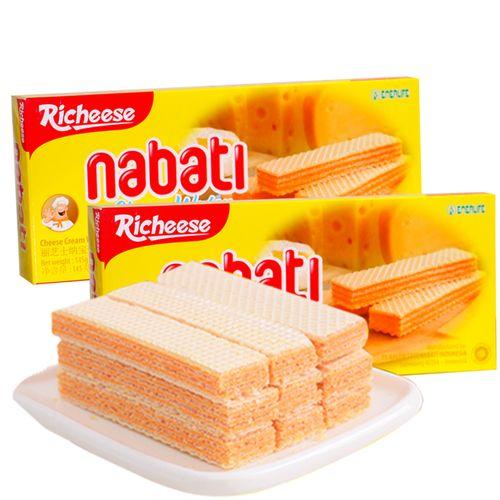 印尼进口丽芝士威化夹心饼干58g*10包
