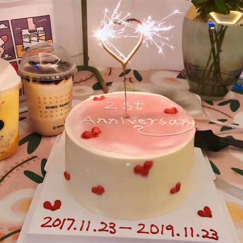 年货爱情结婚纪念日创意个性网红生日蛋糕同城配送情侣浪漫女朋友
