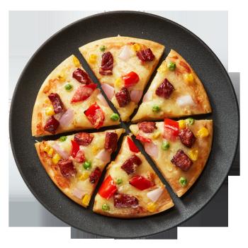 家庭披萨套餐9英寸350g*3片多种口味奥尔良鸡肉培根烤肉比萨 pizza半