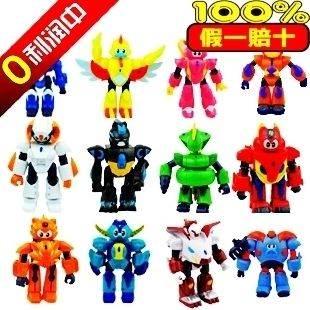 亏本促销  正版三宝玩具中南卡通钢甲卡卡龙动手变形