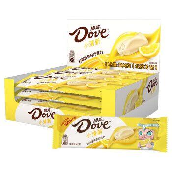 德芙(dove) 德芙巧克力清新口味柠檬曲奇白巧克力42g*
