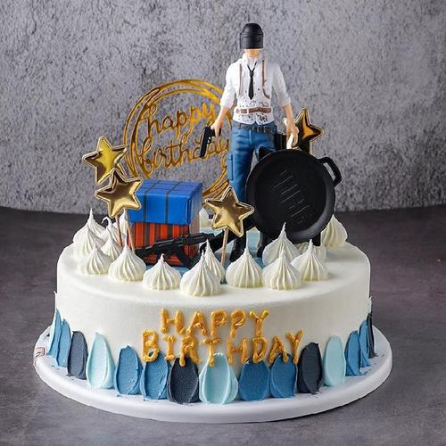 网红蛋糕模型仿真新款生日蛋糕摆设水果男孩展示儿童大型创意定制