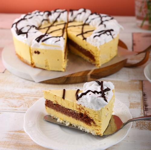 9寸10片芒果慕斯蛋糕/约翰丹尼/冷冻品/-18℃/10348(即食蛋糕 冷冻