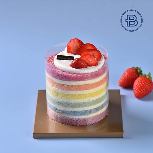 迷你彩虹蛋糕