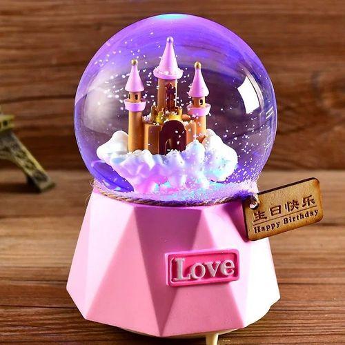 创意生日礼物女生水晶球朋友小礼品音乐盒送儿童男女