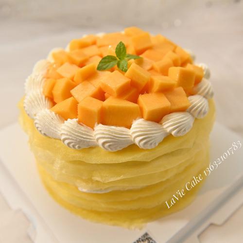 芒果千层蛋糕(图片为6寸效果)