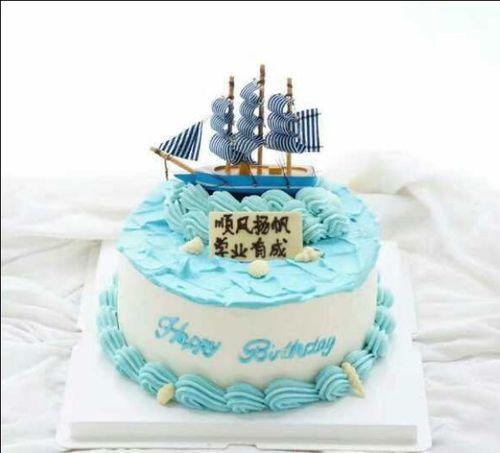帆船蛋糕装饰摆件 创意蛋糕装饰配件 帆船船帆蛋糕
